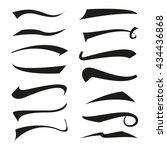 vintage type tail set ...   Shutterstock .eps vector #434436868
