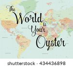 Colourful World Map With...