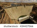 Glen Canyon Dam In Sunny Day