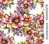 abstract elegance seamless... | Shutterstock . vector #434443378