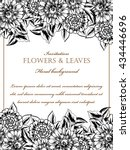invitation with floral... | Shutterstock . vector #434446696