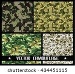vector camouflage set | Shutterstock .eps vector #434451115