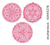 set of cute vector circle... | Shutterstock .eps vector #43445278
