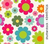 seamless floral pattern.... | Shutterstock .eps vector #434457616