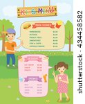 illustration vector kids menu... | Shutterstock .eps vector #434458582
