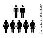 people icon   men   women vector | Shutterstock .eps vector #434458936