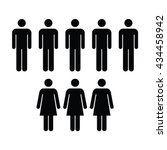 people icon   men   women vector | Shutterstock .eps vector #434458942
