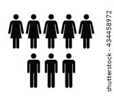 people icon   men   women vector | Shutterstock .eps vector #434458972