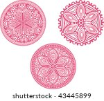 set of cute vector circle... | Shutterstock .eps vector #43445899