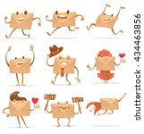vector set of cartoon images of ... | Shutterstock .eps vector #434463856