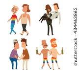 vector set of cartoon images of ... | Shutterstock .eps vector #434463862