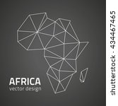 africa black vector contour map | Shutterstock .eps vector #434467465