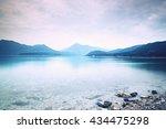 Cloudy Sunset At Mountain Lake...