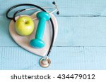 healthy lifestyle exercise and... | Shutterstock . vector #434479012