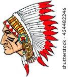 indian head mascot. native... | Shutterstock .eps vector #434482246