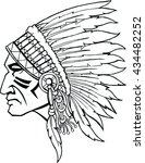 indian head mascot. native... | Shutterstock .eps vector #434482252