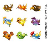 cute funny birds icons