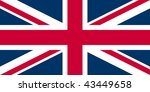 flag of the UK - Union Jack - isolated illustration - stock photo