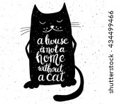my cat thinks i'm awesom on... | Shutterstock .eps vector #434499466