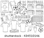 football doodles set. soccer... | Shutterstock .eps vector #434510146