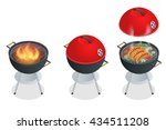 barbecue design elements. grill ... | Shutterstock .eps vector #434511208