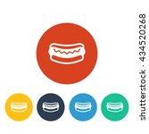 vector illustration of hot dog... | Shutterstock .eps vector #434520268