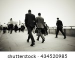 gentlemen on their way to work... | Shutterstock . vector #434520985