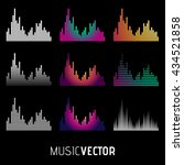 equalizer icon set. music...   Shutterstock .eps vector #434521858