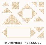 arabic vector set of frames and ...   Shutterstock .eps vector #434522782