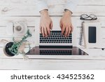 businessman at work. close up... | Shutterstock . vector #434525362