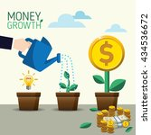 vector crowdfunding concept in... | Shutterstock .eps vector #434536672