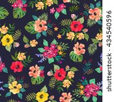 seamless floral  background.... | Shutterstock .eps vector #434540596