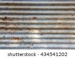 rusty metal plate for background | Shutterstock . vector #434541202