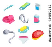 personal hygiene items. care... | Shutterstock .eps vector #434552362