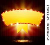 shining retro casino banner on... | Shutterstock .eps vector #434552515