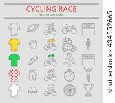set of 25 bicycle race modern... | Shutterstock .eps vector #434552665