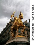Golden Monument To Joan Of Arc...
