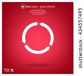 circular arrows vector icon | Shutterstock .eps vector #434557495