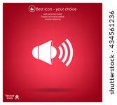 sound icon  vector illustration. | Shutterstock .eps vector #434561236