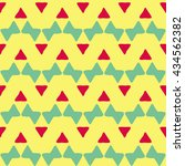 boho seamless pattern with... | Shutterstock .eps vector #434562382