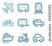 vacation icon  transport vector ...   Shutterstock .eps vector #434562592