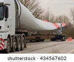 heavy transport  wind turbine... | Shutterstock . vector #434567602
