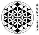 flower of life  buddhism chakra ... | Shutterstock . vector #434567998