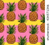 Vector Pattern With Pineapple...
