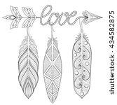 bohemian arrow  hand drawn... | Shutterstock .eps vector #434582875