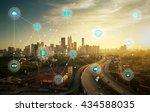 smart city and wireless... | Shutterstock . vector #434588035