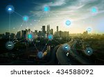 smart city and wireless... | Shutterstock . vector #434588092