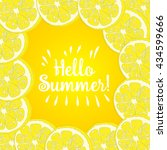 hello summer inscription over... | Shutterstock .eps vector #434599666