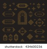 arabic set of frames and lines... | Shutterstock . vector #434600236