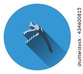waiter corkscrew icon. flat...